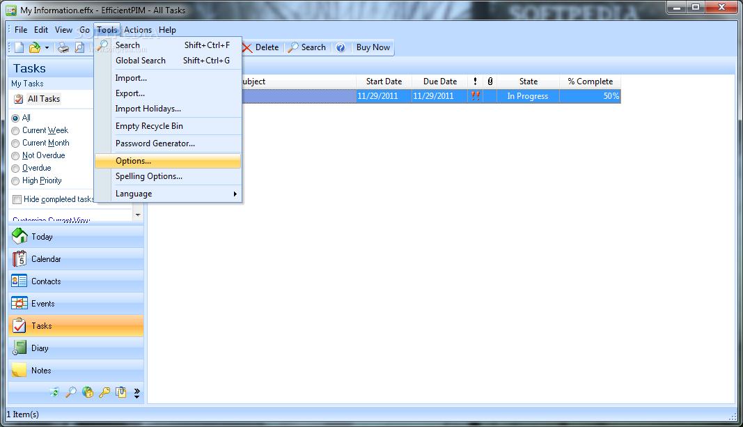 screenshot.EfficientPIM 2 نرم افزار مدیریت اطلاعات EfficientPIM Pro 3 70 Build 359