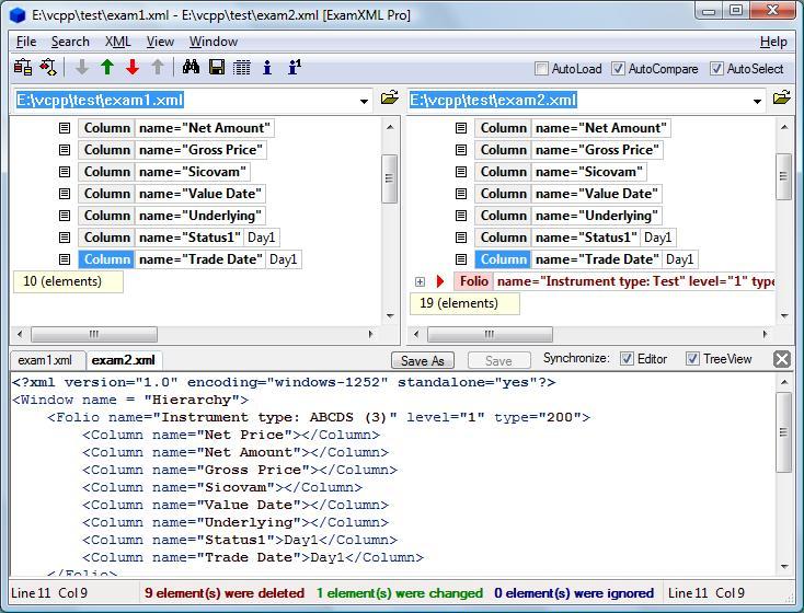 screenshot.ExamXML نرم افزار مقایسه فایل های ايکس ام ال ExamXML PRO 5 49 1077