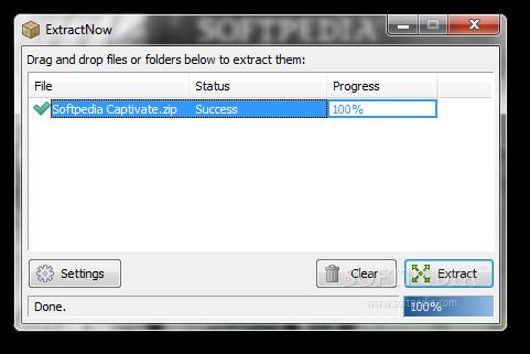 screenshot.ExtractNow 1 نرم افزار استخراج فایل های فشرده ExtractNow 4 8 2 0