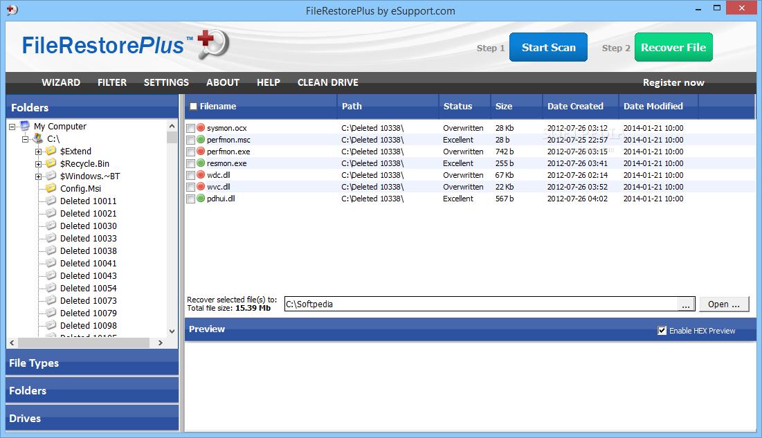 screenshot.FileRestorePlus 2 نرم افزار بازیابی فایل های حذف شده FileRestorePlus 3 0 5 Build 225