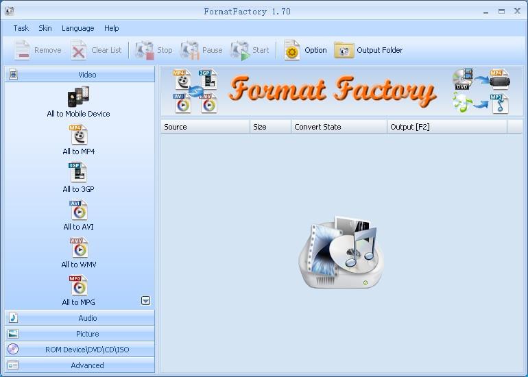 screenshot.Format.Factory 3 دانلود نرم افزار مبدل فایل های صوتی و تصویری Format Factory 3.9.5.1
