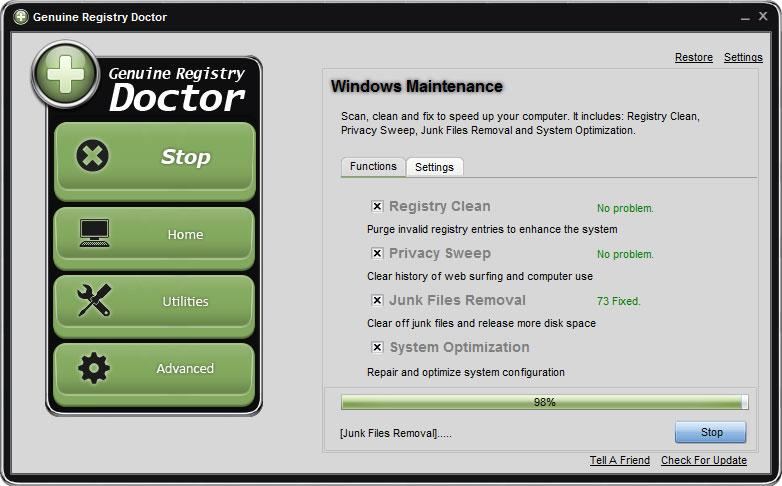 screenshot.Genuine.Registry.Doctor 1 دانلود Genuine Registry Doctor 2 6 7 6 نرم افزار مدیریت و رفع مشکلات ریجستری