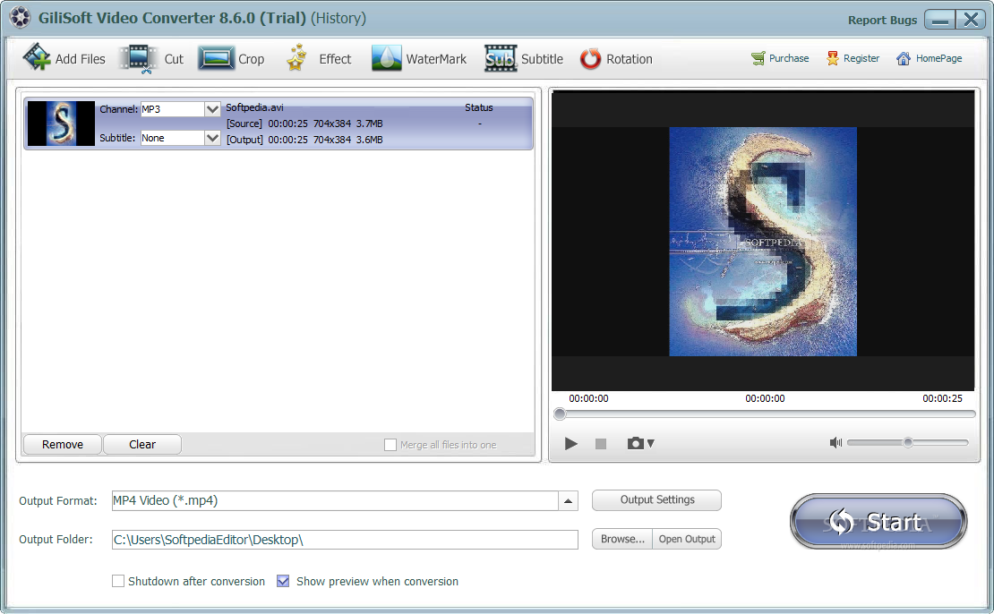 screenshot.GiliSoft.Video .Converter نرم افزار تبدیل فایل های ویدئویی GiliSoft Video Converter 8 7 0