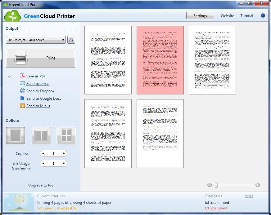 screenshot.GreenCloud.Printer.1 صرفه جویی در رنگ پرینتر GreenCloud Printer Pro 7 7 0 0