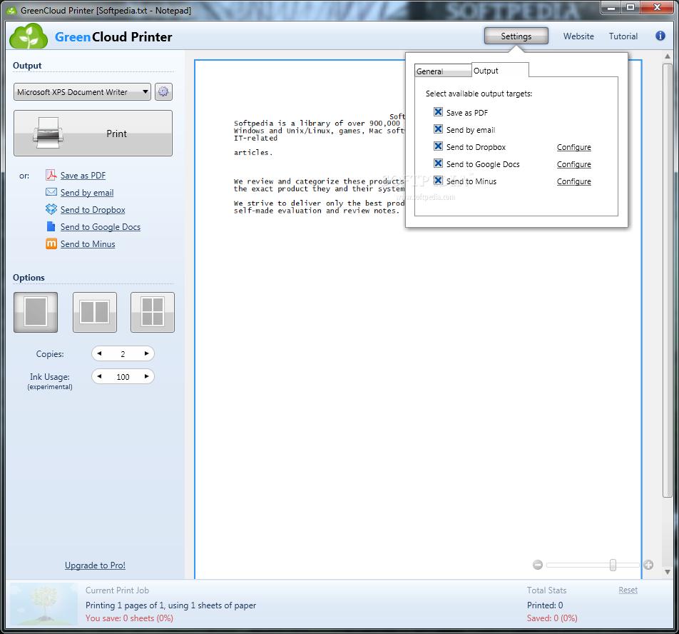 screenshot.GreenCloud.Printer.2 صرفه جویی در رنگ پرینتر GreenCloud Printer Pro 7 7 0 0