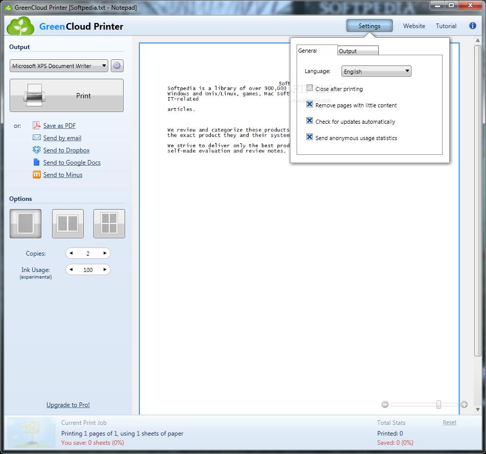 screenshot.GreenCloud.Printer.3 صرفه جویی در رنگ پرینتر GreenCloud Printer Pro 7 7 0 0