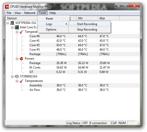 screenshot.HWMonitor 1 نرم افزار نمایش اطلاعات سیستم HWMonitor 1 25