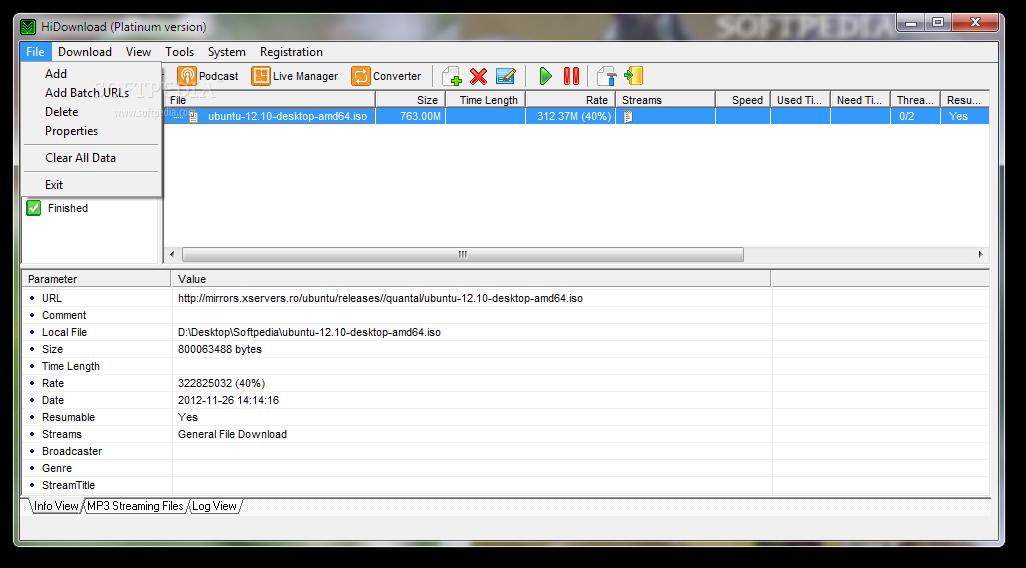screenshot.HiDownload.Platinum 2 نرم افزار مدیریت دانلود HiDownload Platinum v8 23
