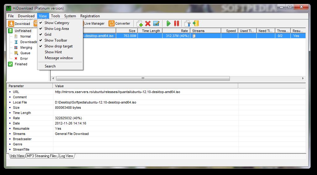 screenshot.HiDownload.Platinum 4 نرم افزار مدیریت دانلود HiDownload Platinum v8 23
