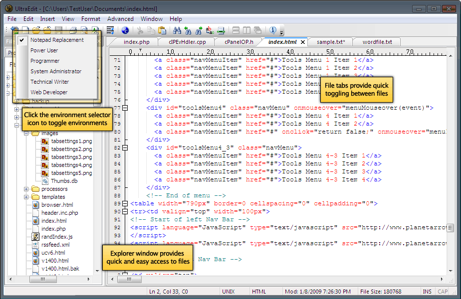 screenshot.IDM .UltraEdit نرم افزار حرفه ای ویرایش متن IDM UltraEdit 21 00 1033