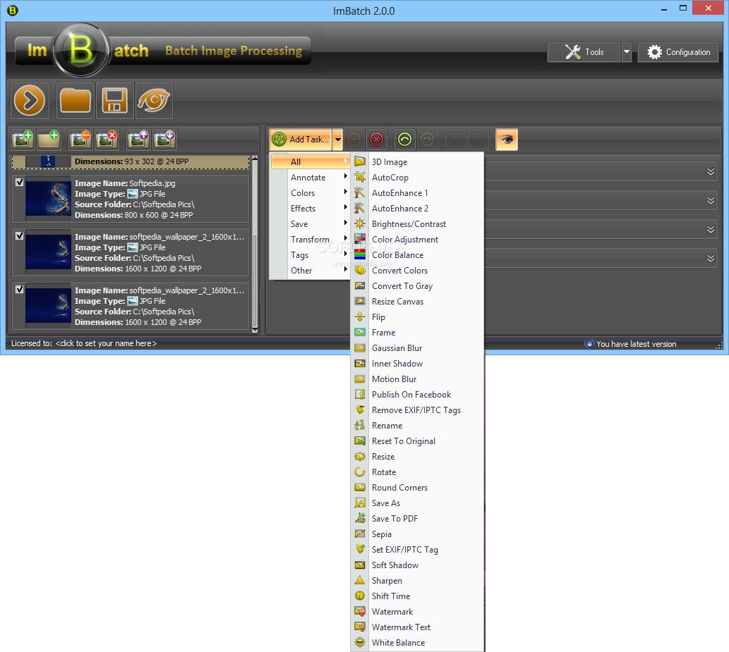 screenshot.ImBatch 2 نرم افزار ویرایش تصاویر ImBatch 2 5 0