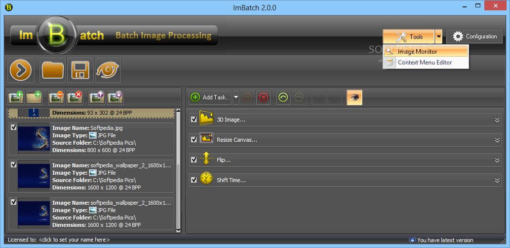 screenshot.ImBatch 3 نرم افزار ویرایش تصاویر ImBatch 2 5 0