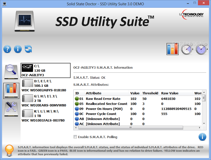 screenshot.LC .Technology.Solid .State .Doctor 2 نرم افزار مدیریت SSD ها LC Technology Solid State Doctor 3 1 0 5