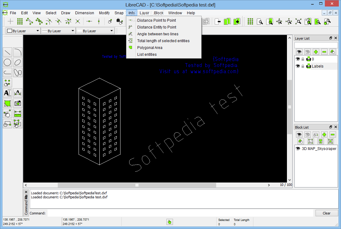 screenshot.LibreCAD.2 نرم افزار نقشه کشی LibreCAD 2 0 3 Final