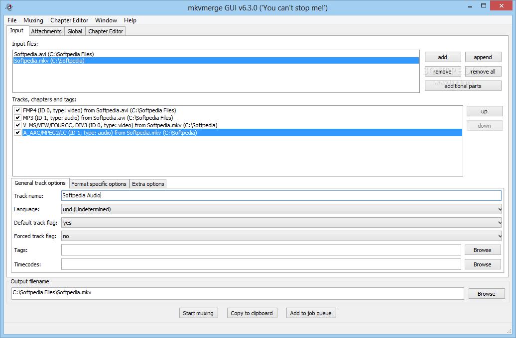 screenshot.MKVToolnix 4 نرم افزار ترکیب و ادغام  صدا و زیرنویس با یکدیگر MKVToolnix 6 9 0 Final