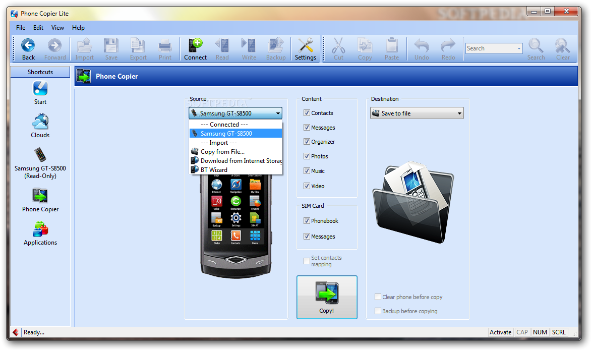 screenshot.MOBILedit.Phone .Copier 1 نرم افزار مدیریت گوشی تلفن همراه MOBILedit! Phone Copier 7 5 5 4262