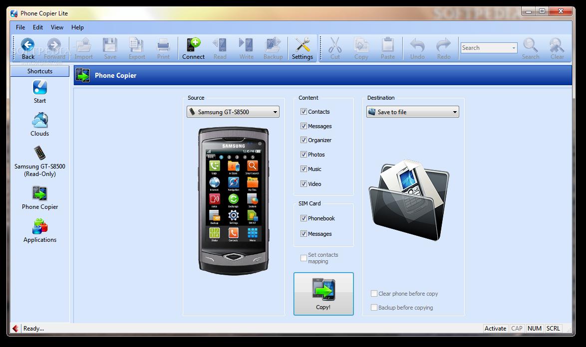 screenshot.MOBILedit.Phone .Copier 2 نرم افزار مدیریت گوشی تلفن همراه MOBILedit! Phone Copier 7 5 5 4262