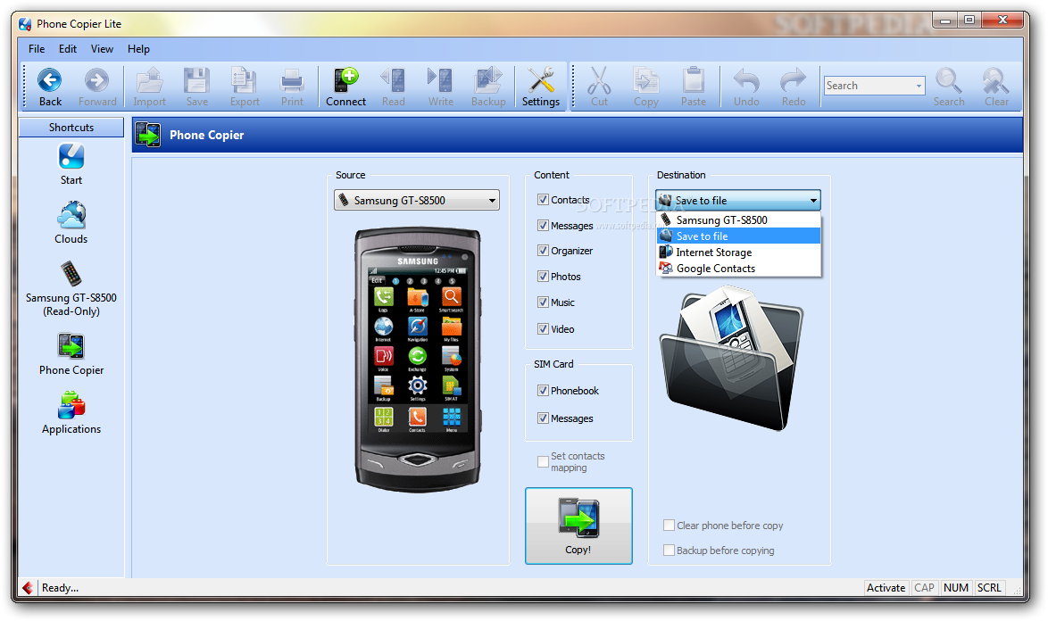 screenshot.MOBILedit.Phone .Copier 3 نرم افزار مدیریت گوشی تلفن همراه MOBILedit! Phone Copier 7 5 5 4262
