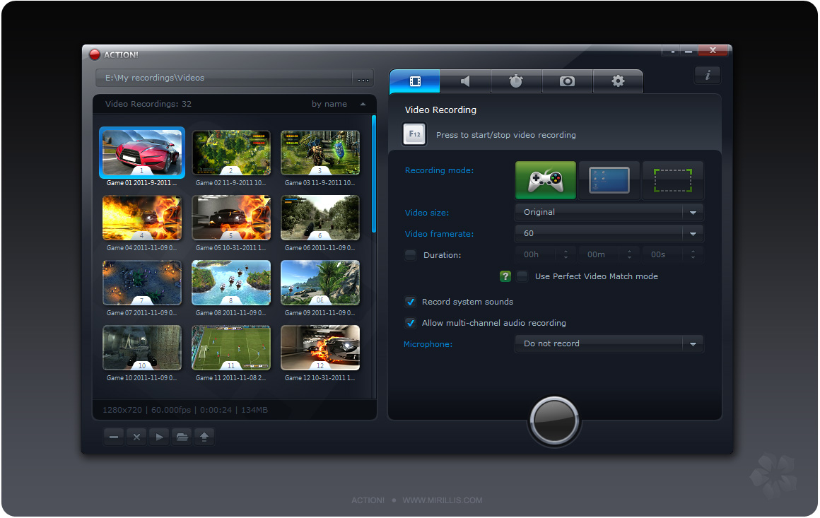 screenshot.Mirillis.Action 1 نرم افزار ضبط ویدیو از محیط ویندوز Mirillis Action 1 17 4 0