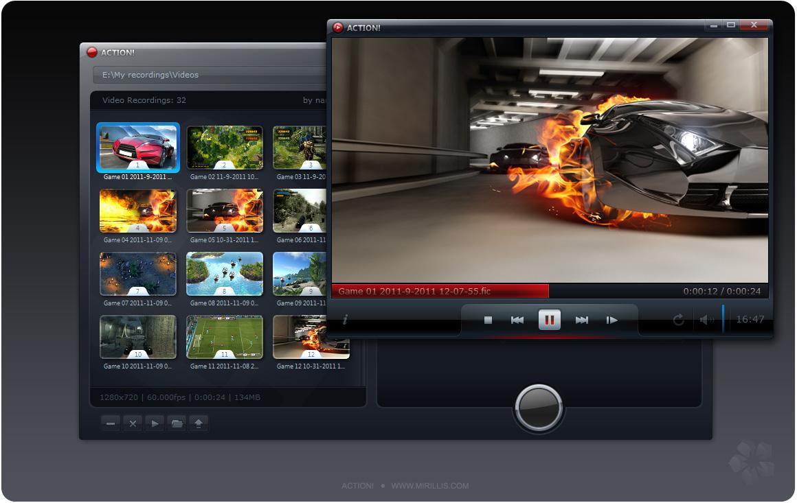 screenshot.Mirillis.Action 2 نرم افزار ضبط ویدیو از محیط ویندوز Mirillis Action 1 17 4 0