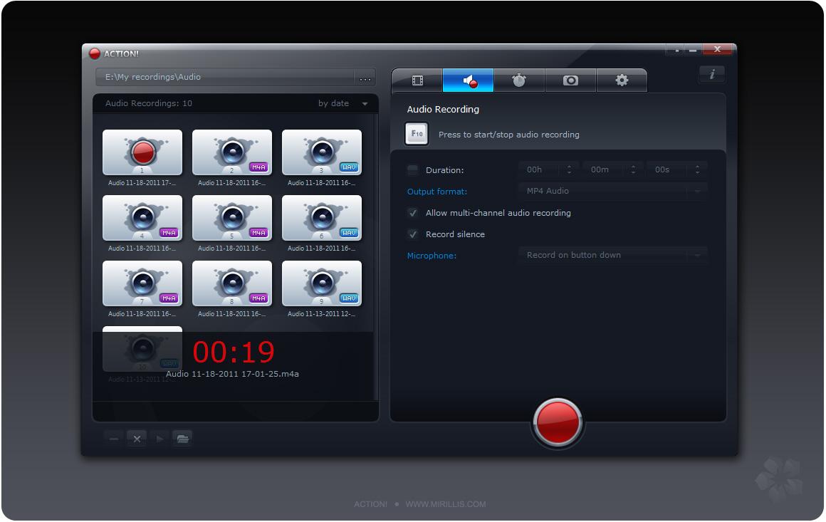 screenshot.Mirillis.Action 5 نرم افزار ضبط ویدیو از محیط ویندوز Mirillis Action 1 17 4 0