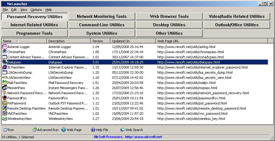 screenshot.NirLauncher.1 دانلود NirLauncher 1.18.73 مجموعه ابزارهای کاربردی برای ویندوز