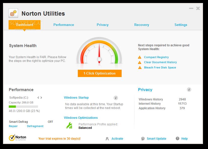 screenshot.Norton.Utilities 2 دانلود نرم افزار برای بهینه سازی سرعت کامپیوتر Norton Utilities 16.0.2.39