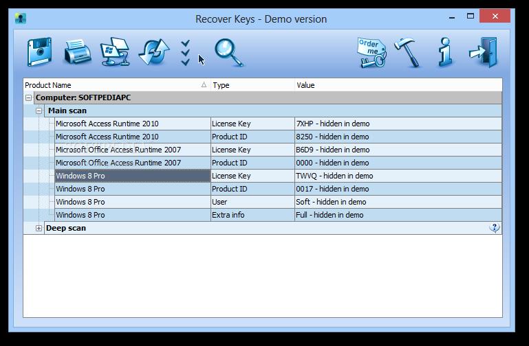 screenshot.Nuclear Coffee Recover Keys 2 نرم افزار بازیابی و ذخیره سازی شماره سریال نرم افزار ها Nuclear Coffee Recover Keys 8 0 3 109