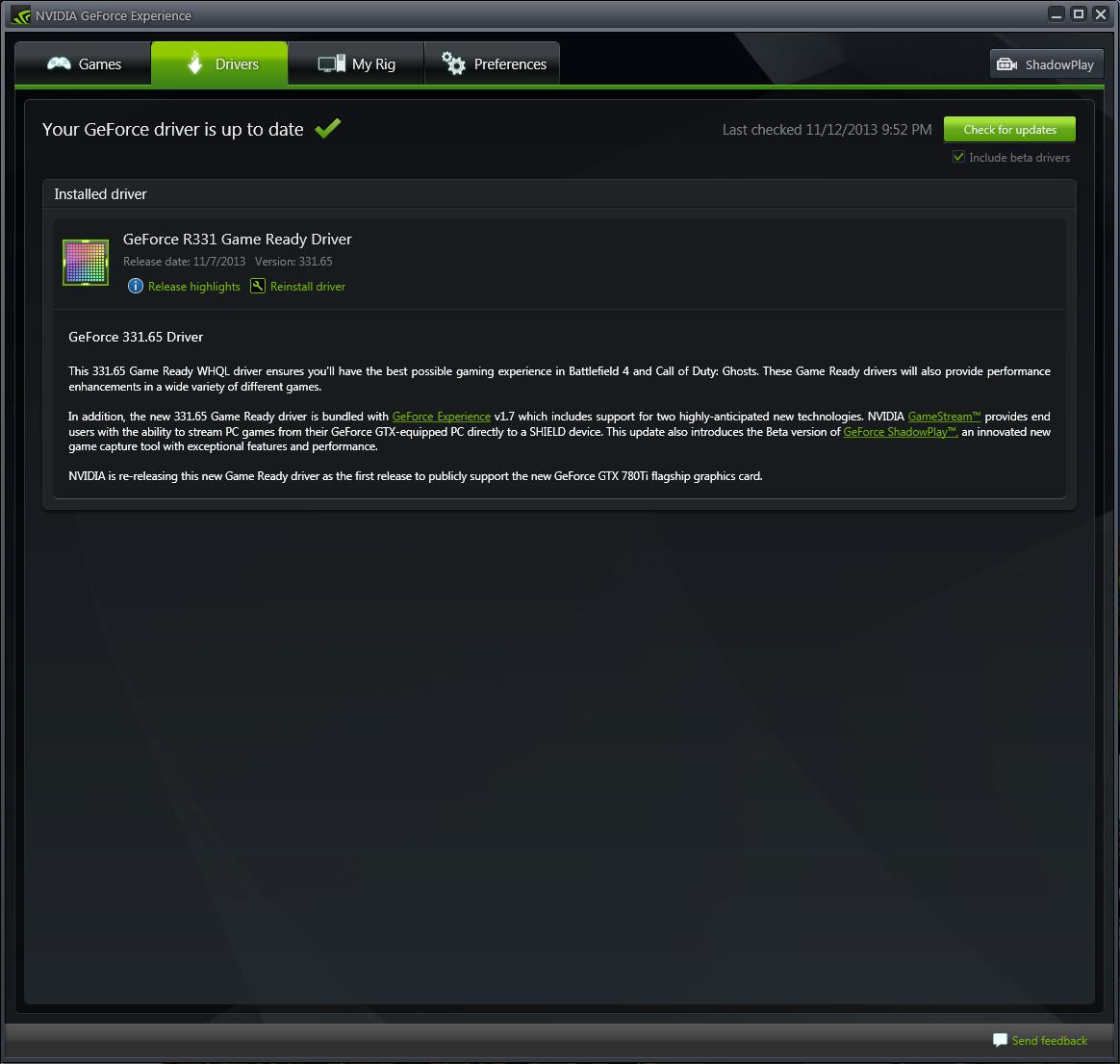 screenshot.Nvidia.GeForce.Experience 2 نرم افزار بهینه سازی بازی ها Nvidia GeForce Experience 2 0 0 0