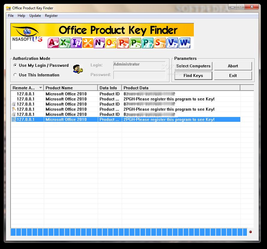 screenshot.Office.Product.Key.Finder.3 نرم افزار یافتن سریال محصولات آفیس Office Product Key Finder 1 4 1 0