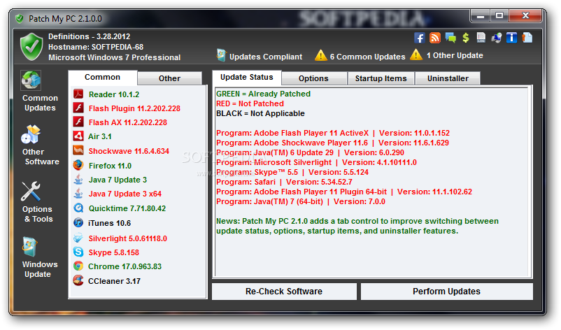screenshot.Patch .My .PC 1 اطلاع از نسخه جدید نرم افزارها Patch My PC 2.4.0.0 + Portable