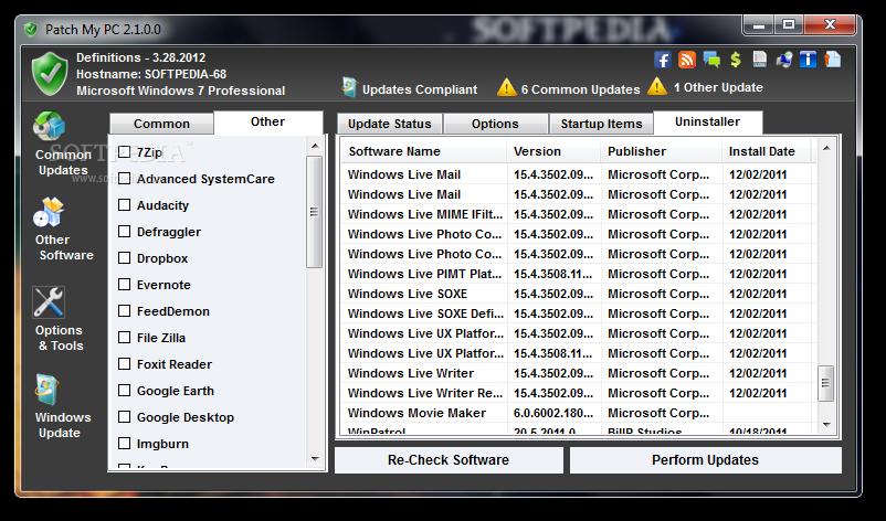screenshot.Patch .My .PC 2 اطلاع از نسخه جدید نرم افزارها Patch My PC 2.4.0.0 + Portable