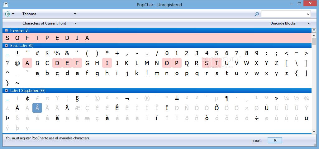 screenshot.PopChar نرم افزار تایپ کاراکترهای مختلف PopChar 6 3