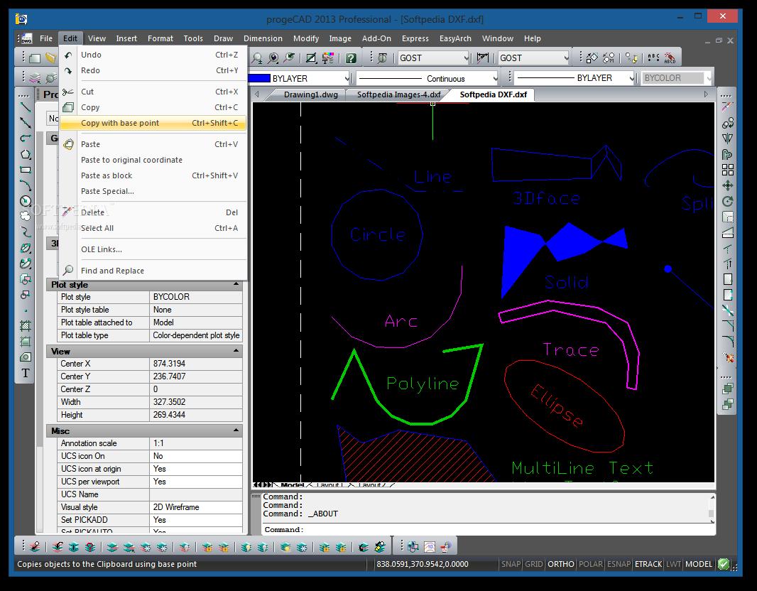 screenshot.ProgeCAD 1 نرم افزار نقشه کشی ProgeCAD 2014 Professional 14 0 6 15
