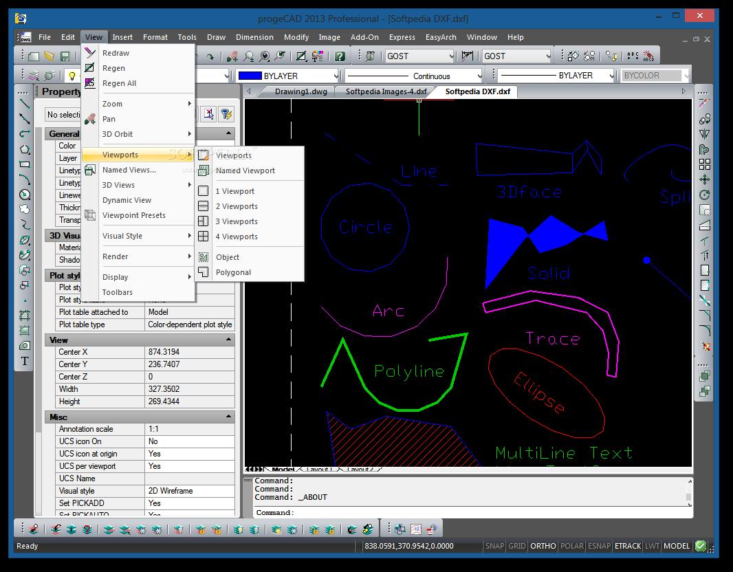 screenshot.ProgeCAD 2 نرم افزار نقشه کشی ProgeCAD 2014 Professional 14 0 6 15