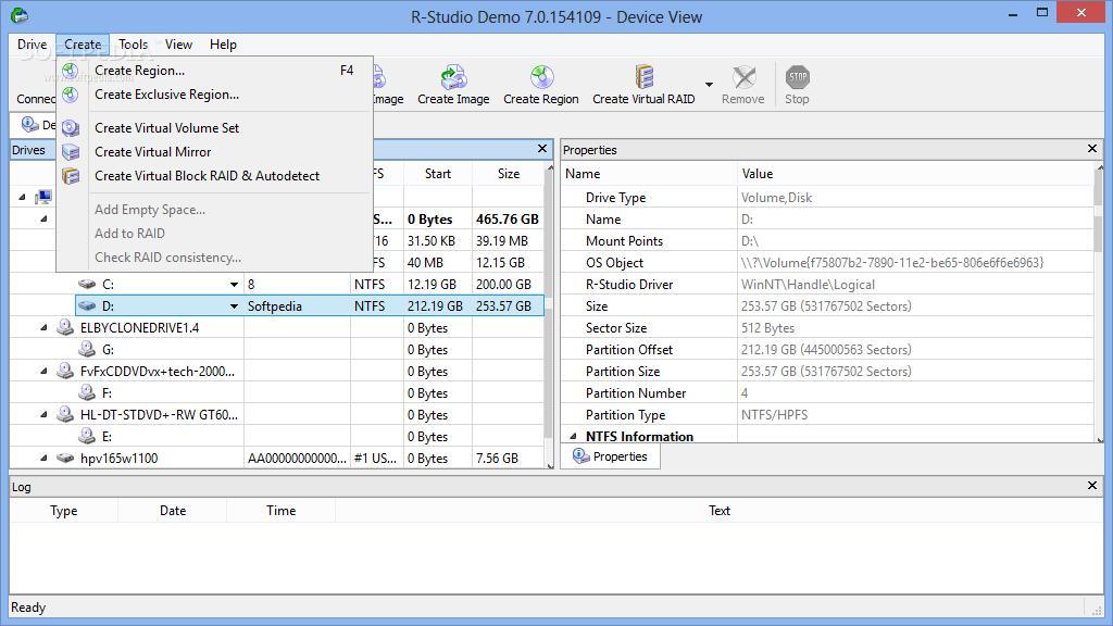 screenshot.R Studio 1 نرم افزار بازیابی اطلاعات از دست رفته R Studio 7 2 Build 154997 Network Edition