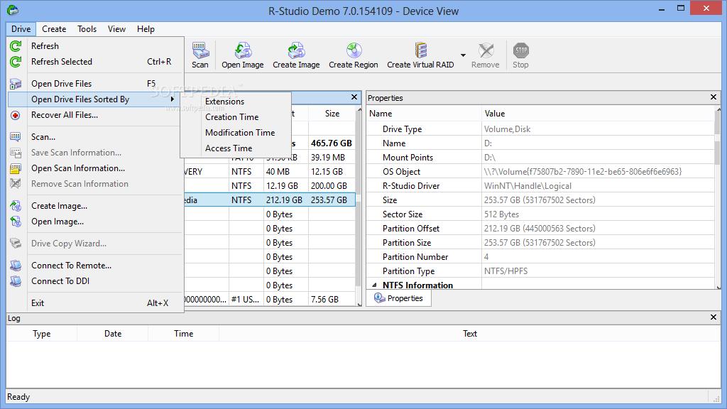 screenshot.R Studio 2 نرم افزار بازیابی اطلاعات از دست رفته R Studio 7 2 Build 154997 Network Edition