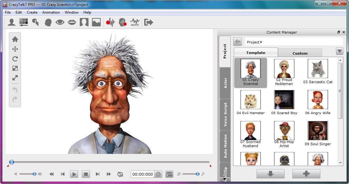 screenshot.Reallusion.CrazyTalk.PRO 1 دانلود CrazyTalk Pro 7.32.3114.1 نرم افزار جان بخشی به تصاویر