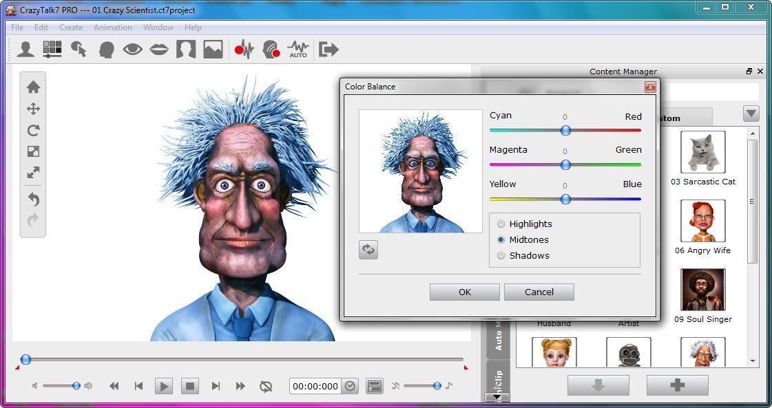 screenshot.Reallusion.CrazyTalk.PRO 2 دانلود CrazyTalk Pro 7.32.3114.1 نرم افزار جان بخشی به تصاویر