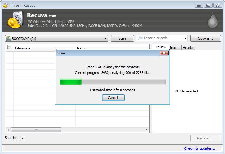 screenshot.Recuva 4 نرم افزار بازیابی اطلاعات Recuva Professional 1 51 1063