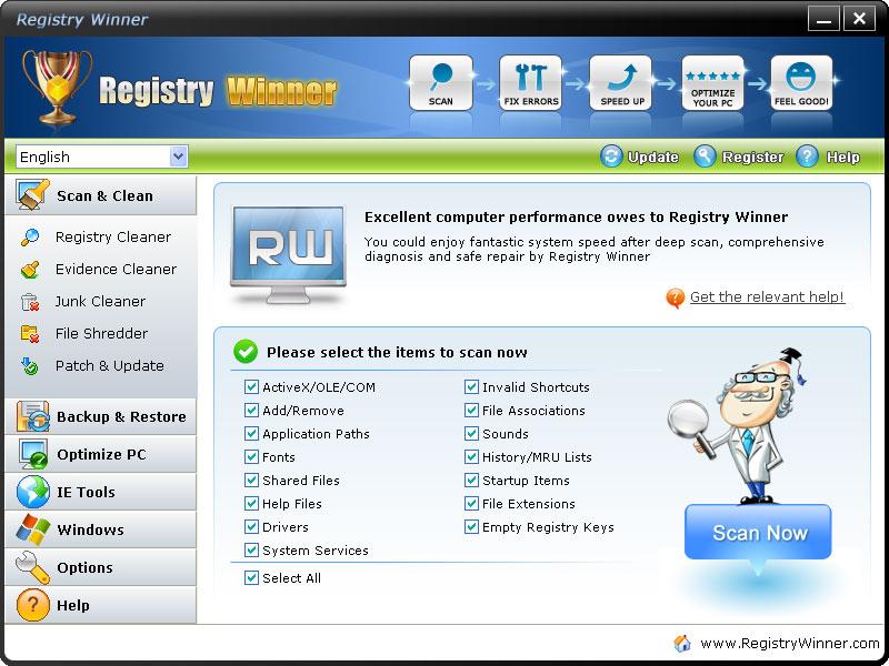 screenshot.Registry.Winner 2 نرم افزار تعمیر و بهینه سازی ریجستری Registry Winner 6 8 3 12