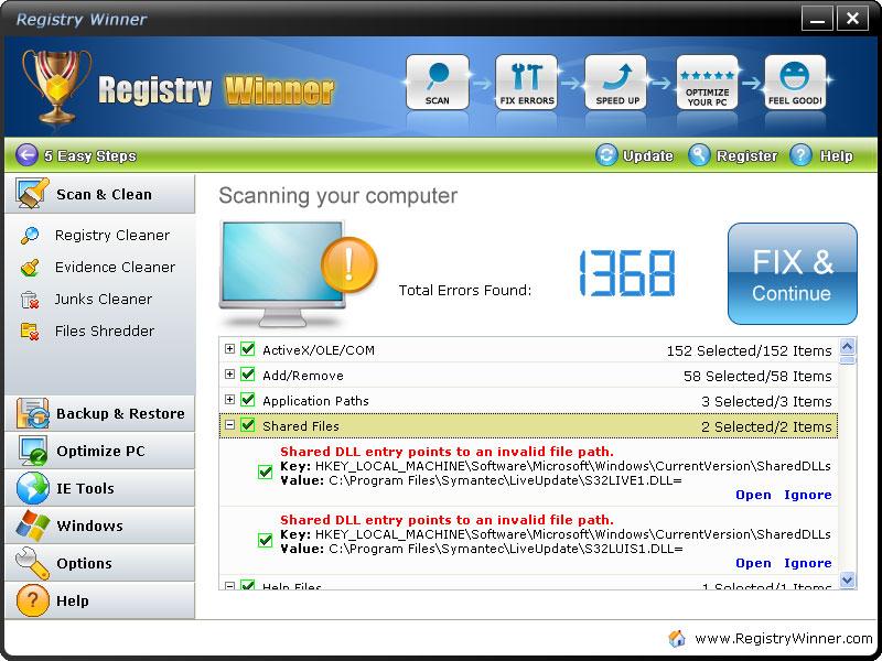 screenshot.Registry.Winner 3 نرم افزار تعمیر و بهینه سازی ریجستری Registry Winner 6 8 3 12