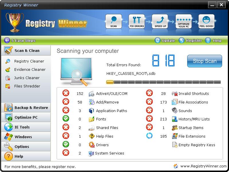 screenshot.Registry.Winner 4 نرم افزار تعمیر و بهینه سازی ریجستری Registry Winner 6 8 3 12