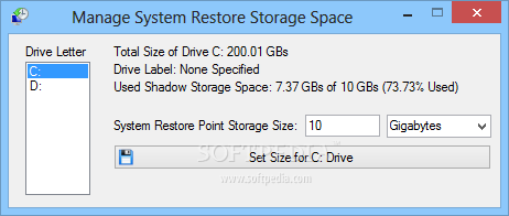screenshot.Restore.Point .Creator.3 نرم افزار مدیریت سیستم ریستور Restore Point Creator 2 2 Build 13