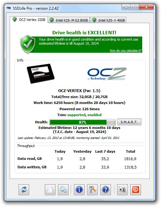 screenshot.SSDLife 1 بررسی سلامتی هارد دیسک  SSDLife Pro v2 5 67