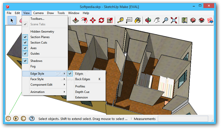 screenshot.SketchUp.Pro 3 نرم افزار طراحی مدل های 3 بعدی SketchUp Pro 2014 14 0 4900