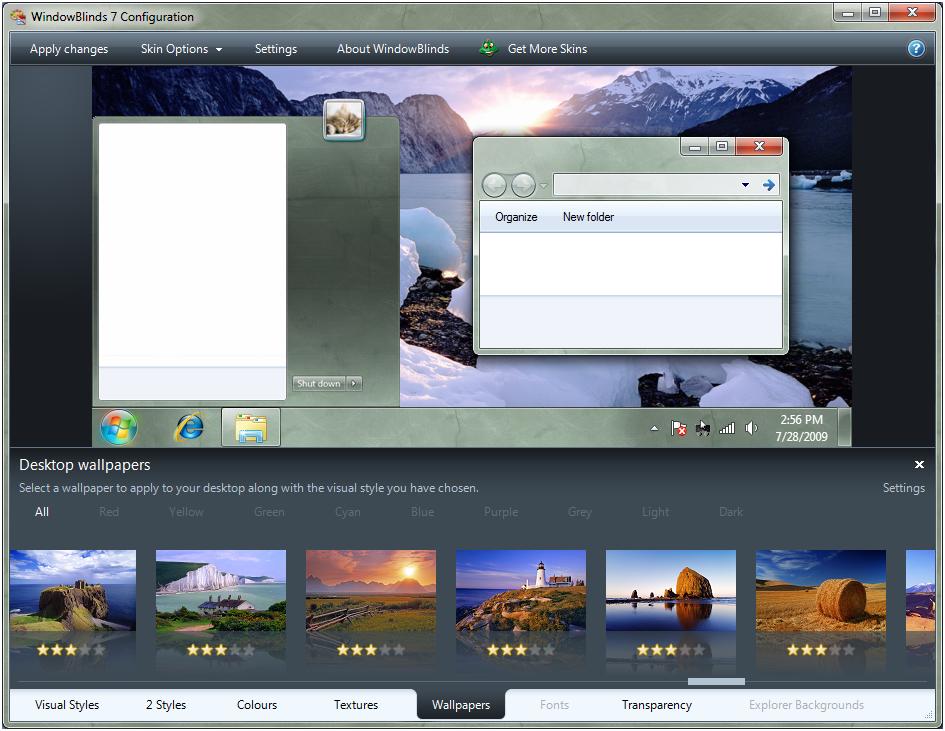 screenshot.Stardock.WindowBlinds 2 دانلود نرم افزار تغییر چهره و زیباسازی ویندوز Stardock WindowBlinds 8 02