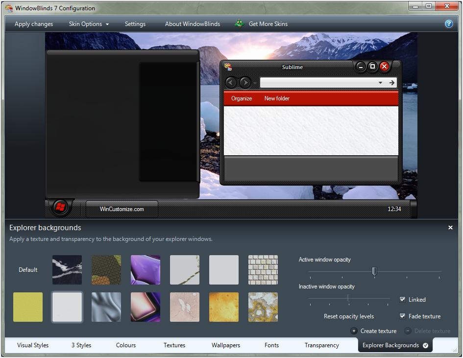 screenshot.Stardock.WindowBlinds 5 دانلود نرم افزار تغییر چهره و زیباسازی ویندوز Stardock WindowBlinds 8 02