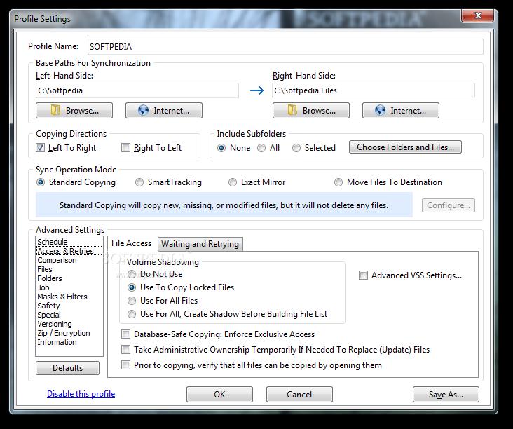 screenshot.Syncovery 3 نرم افزار هماهنگ سازی فایل ها Syncovery v6 55 Build 197