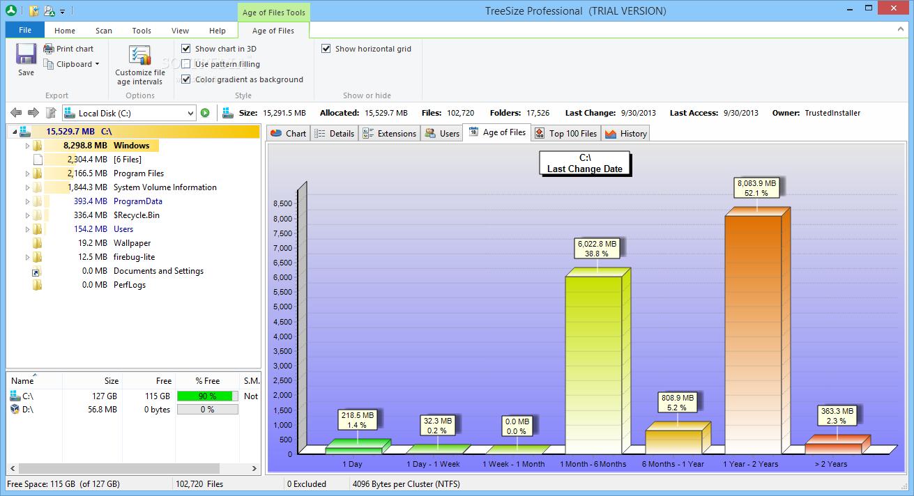 screenshot.TreeSize.Professional 1 نرم افزار بررسی فضای هارد دیسک TreeSize Professional 6 0 3 953